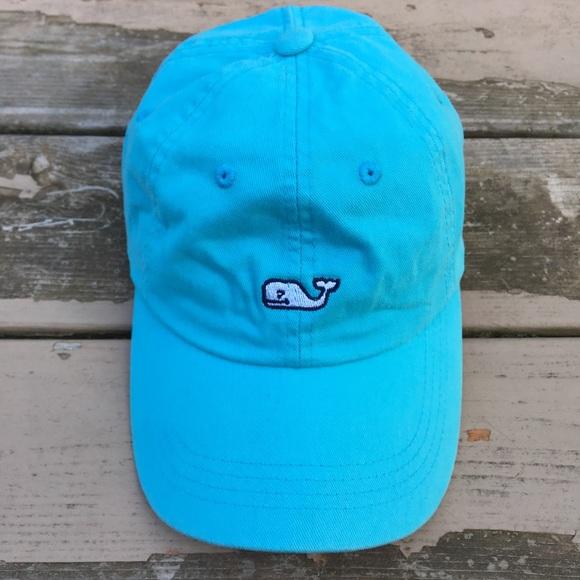 2efd0112751 Vineyard Vines Aqua Blue Whale Logo Baseball Hat